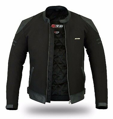 Mens Windproof Thermal Leather Motorcycle Motorbike Jacket Armour Biker Rider CE