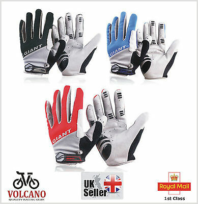 TOUCH SCREEN GIANT Cycling Gloves Cycle Cold Winter Bicycle Bike BMX Full Finger