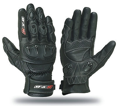 KYB Winter Leather Motorbike Motorcycle GLOVES Armour Hard Knuckle SPS Protector