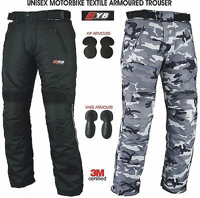KYB Waterproof Motorcycle Trouser Motorbike Textile Trousers Pant Armour Thermal