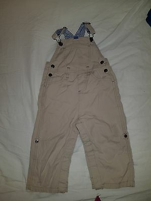 boys boden dungarees beige 18-24 months