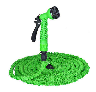 Garden Hose 25ft/50ft/75ft/100ft/125ft/150ft Flexible Gardening Water Hose Pipe