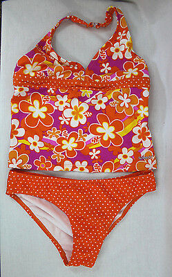 Girls Speedo Tankini Swimsuit Swimwear Size 14 B5