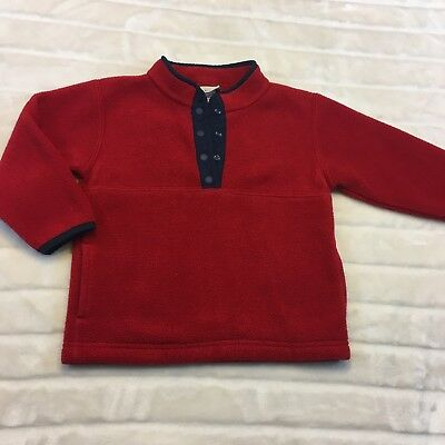 LL Kids By LL Bean Boys Size 3T Red Pullover