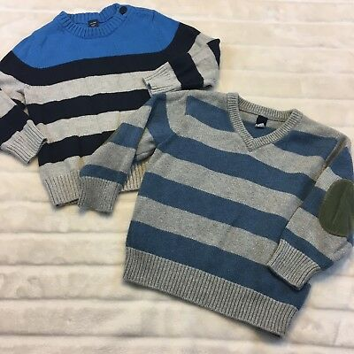 Baby Gap Boys Size Toddler 2 Years Sweater Lot Striped Cotton 2T