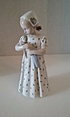 Vintage Bing & Grundahl figurine 1721 Mary holding her doll  Porcelain retired