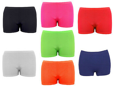 Girls Microfiber Hot Pants Shorts Dance Gym Stretch Shorts Ages 5-12