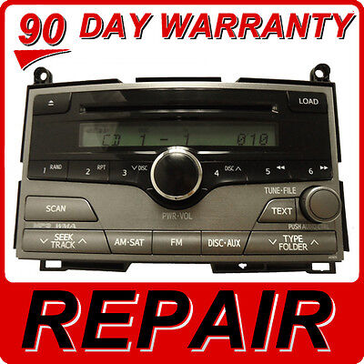 REPAIR SERVICE ONLY Toyota Venza Radio 6 Disc Changer MP3 CD Player JBL FIX OEM