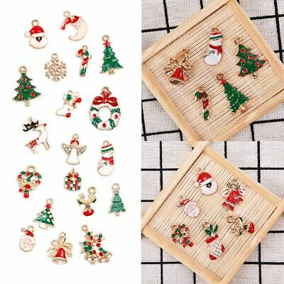 19 pcs Metal Alloy Mixed Christmas Charms Set Ornament Xmas Jewellery Pendants