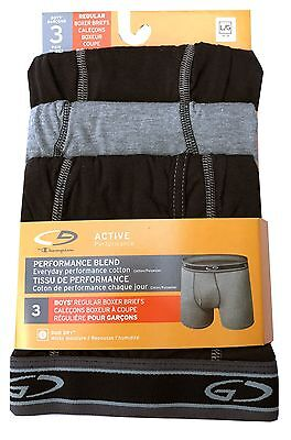 """C9 by Champion BOYS  boxer briefs 3-Pack """"ACTIVE Performance"""" DUO DRY  NEW"""
