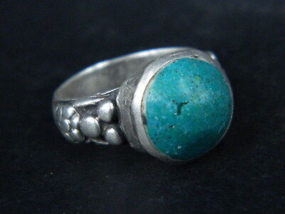 Antique Silver Ring With Stone Post Medieval 1800 AD No Reserve  #STC190