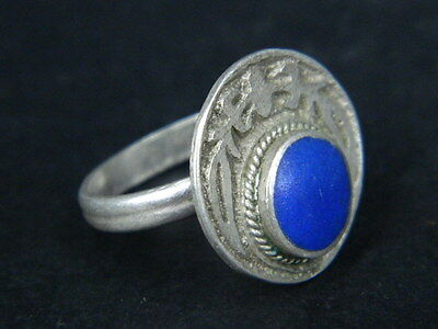 Antique Silver Ring With Stone 1900 AD No Reserve  #STC178 ( WEARABLE )