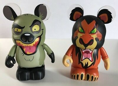 DISNEY Vinylmation Figurine LION KING Lot of 2 Scar and Banzai