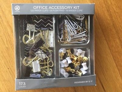 Office Accessory kit gold white and black
