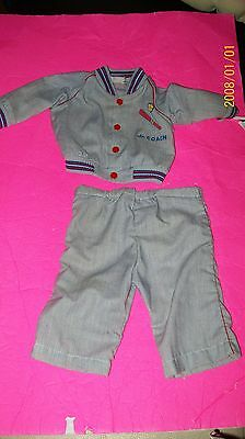 FITS CABBAGE PATCH SOFT SCULPTURE BABY doll CLOTHES    boys BLUE SET