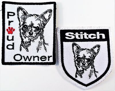 2 Patches Chihuahua Dogs Proud Owner Stitch Mexico