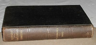 ***early 1887 Railroad Commissioners Of Alabama Seventh Annual Report Book***