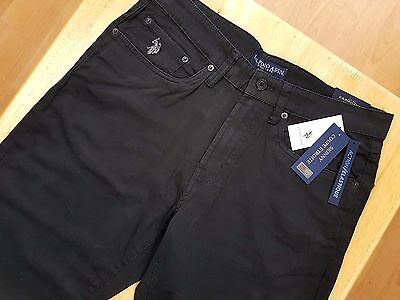Us Polo Assn Mens Jeans Trousers Black W 32 34 36 38 New Rrp$65.00