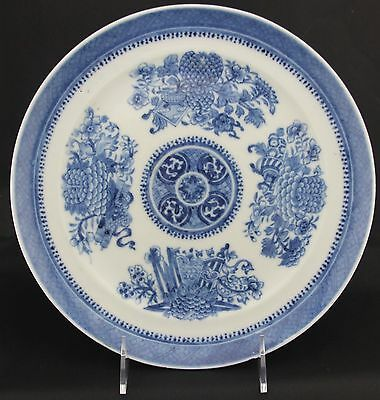 Chinese Fitzhugh Blue Plate, early 19th century