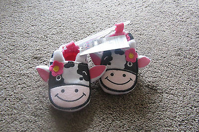 Pre Walker Shoes 0-3 Mth New Cow Design