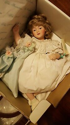 "The 14"" Seamstress Porcelain Doll By Maud Humphrey Bogart"