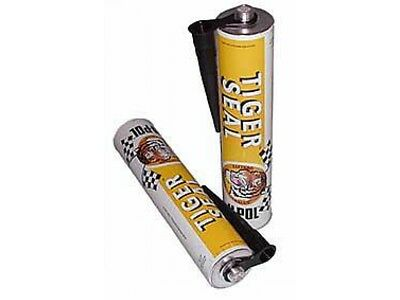 Tiger Seal Polyurethane Adhesive Sealent, 310ml Tube Black Strong Permanent Car