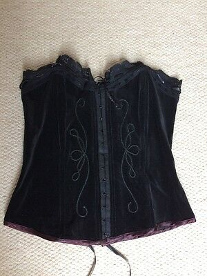 Stunning Boned Gothic Corset From Danger Angel Size M (approx 14)