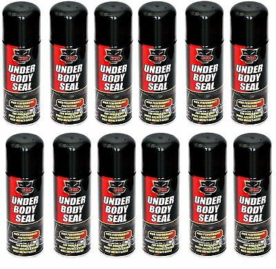 12x Hi Performance Vehicle Under Body Seal Protection Spray 200ml Car Van Arches
