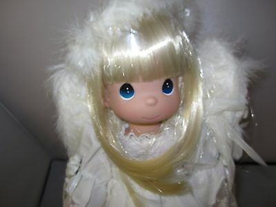 """Precious Moments Heaven's Glory 13"""" Angel Doll with Feather Wings NEW Blonde"""