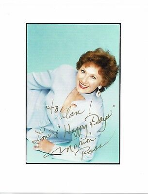 Marion Ross American Actress Happy Days Hand Signed  Photograph 10 x 8