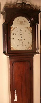 "Antique Mahogany "" Knighton ""  8 Day  Longcase / Grandfather Clock"