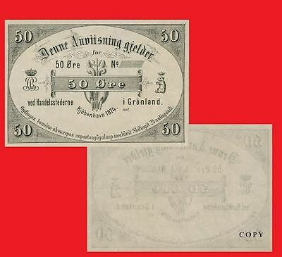 Grenland 50 Ore 1874. UNC - Reproductions