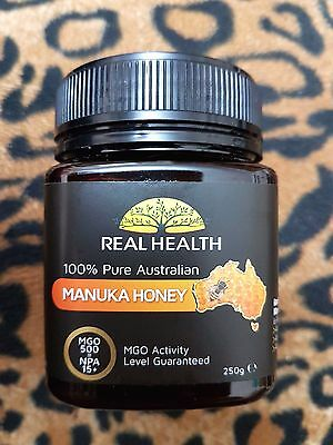 Real Health Pure Australian MANUKA HONEY MGO 300 NDA 10+ 250g - Sealed Exp 2021