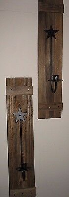 Wooden Primitive Sconces, Candle Sticks,country Decor, Home Decor, Wall Hangings