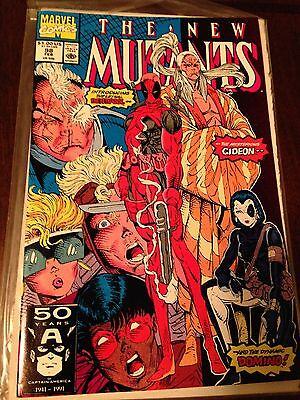 New Mutants # 98 - (Nm+) - 1St Appearance Of Deadpool -White Pages -High Grade