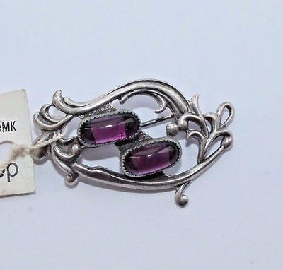 Vintage German Silver 980 Brooch #232
