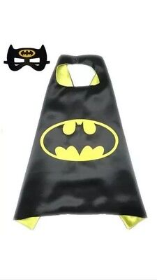 Batman Cape & Mask Set For Kids Superhero Dress Ups