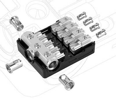 Agu Fuse Platinum Distribution Block (3) 0/2/4 Ga In Four 4/8 Gauge Awg Out 12V