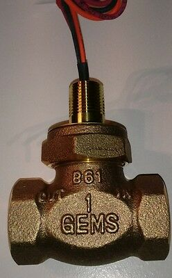 "1"" Brass Flow Switch by Gems Sensors FS-200 Series, Inline, 0.5 GPM 27051"