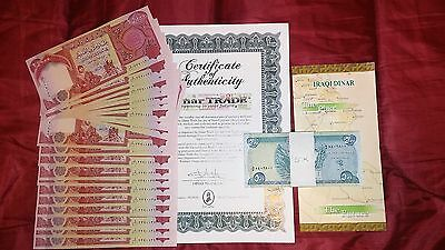 1 Million 50K IRAQI DINAR SEQUENTIAL UNC 25,000 IQD IQN Notes 1,000,000 50,000