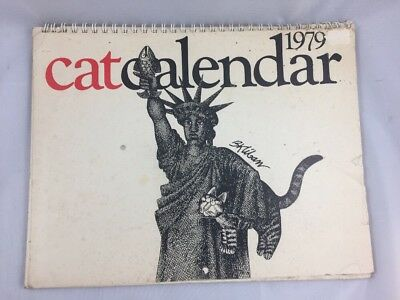 1979 Cat Calendar B. Kliban Cartoon Vintage Unused
