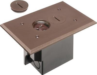 Arlington FLBR101BR-1 Floor Electrical Box Kit with Outlet and Plate,1-GANG