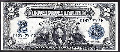 US 1899 $2 M&A Silver Certificate FR 251 VF-XF (-791)