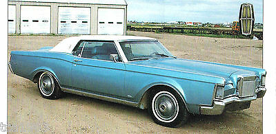 1969 LINCOLN CONTINENTAL Mark III 3 SPEC SHEET / Brochure