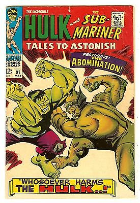 Tales To Astonish 91   Hulk vs Abomination cover