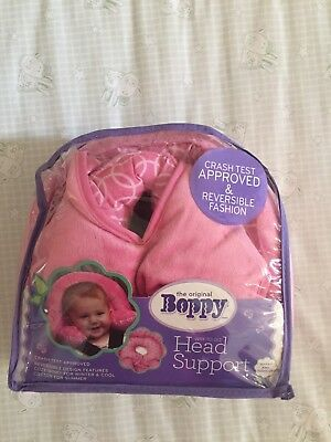 Boppy Infant to Toddler Head and Neck Support Reversible Design Pink- new