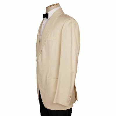 Vintage 1970s H Creed & Co Paris Mens Off White Dinner Jacket Size M