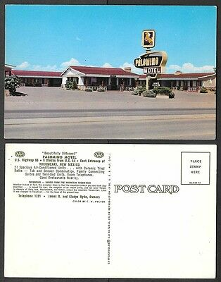 Old Route 66 Hotel Postcard - Tucumcari, New Mexico - Palomino Motel