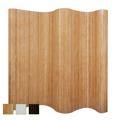 New Room Divider / Partition Bamboo Folding Privacy Screen Wall Blind 3 Colours