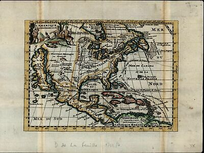 North America California Island myth New Mexico 1702 de Fer rare antique map